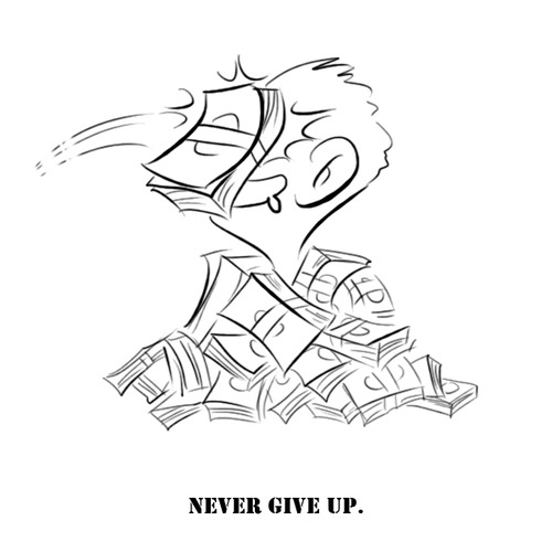 Cartoon: Never give up (medium) by zenchip tagged money,more,hungry,fun,zenchip
