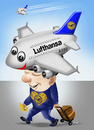 Cartoon: My hat (small) by fritzpelenkahu tagged a380