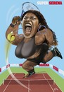 Cartoon: SUPER SERENA (small) by fritzpelenkahu tagged serena,william