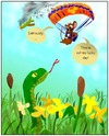 Cartoon: Having a bad day? (small) by andriesdevries tagged mouse,snake,plane,parachute