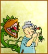Cartoon: The botanist (small) by andriesdevries tagged botanist,biologist,plant,discovery