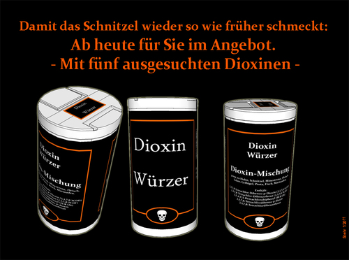 Cartoon: Dioxin Würzer (medium) by Matthias Stehr tagged dioxin,skandal,