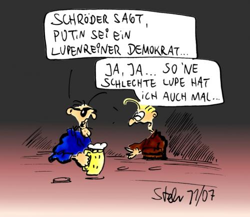 knick in der optik by matthias stehr politics cartoon toonpool. Black Bedroom Furniture Sets. Home Design Ideas