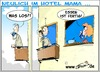 Cartoon: HotelMama  Essen ist fertig (small) by Trumix tagged hotel,mama,kommunikation,jugend,kinder,nesthocker,trummix