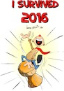 Cartoon: I survided 2016 (small) by Trumix tagged 2016,survided,überleben,neues,jahr,silvester