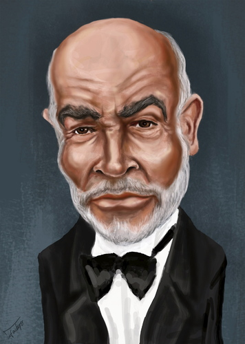 Cartoon: Sean Connery caricature (medium) by jackopo tagged caricature