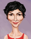 Cartoon: Audrey Tautou (small) by gartoon tagged actess,women,celebrities