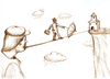 Cartoon: the tightrope walker (small) by gartoon tagged tightrope,man,hatter,help