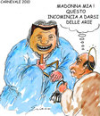 Cartoon: MASCHERE (small) by Grieco tagged grieco,berlusconi,maschere,carnevale