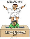 Cartoon: RESURREZIONE 2010 (small) by Grieco tagged grieco,berlusconi,bossi,resurrezione,elezioni