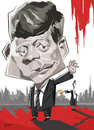 Cartoon: JOHN F KENNEDY (small) by nader_rahmani tagged politicians