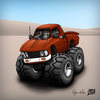 Cartoon: 1979 Toyota HighLux 4X4 (small) by RyanNore tagged truck,car,cartoon,photoshop,caricature