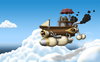 Cartoon: Cloud Gazer (small) by RyanNore tagged airship,steampunk,sky,clouds