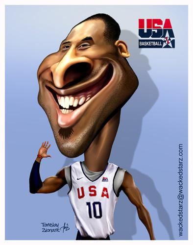 Cartoon: Kobe Bryant (medium) by Wackedstarz tagged kobe