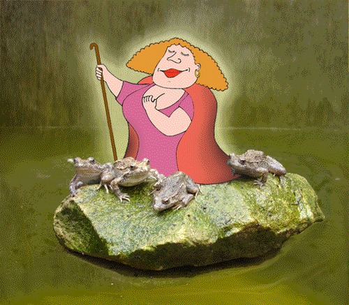 Cartoon: Frog Shepherdess (medium) by Steve B tagged frogs,shepherdess