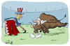 Cartoon: Bullfighting in Bahrain (small) by shoorabad tagged saudi,crime,usa,bullfighting