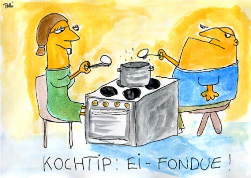 Cartoon: Ei Fondue (medium) by Tobias Schülert tagged ei,fondue