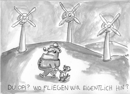 Cartoon: Wind (medium) by Tobias Schülert tagged wind,natur,