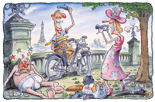 Cartoon english tourists in paris medium by nick lyons tagged