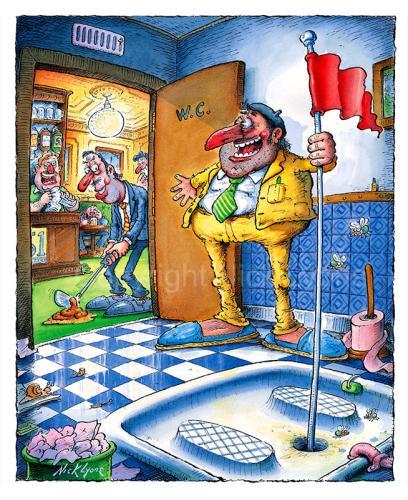 French Loo 2 By Nick Lyons Sports Cartoon Toonpool