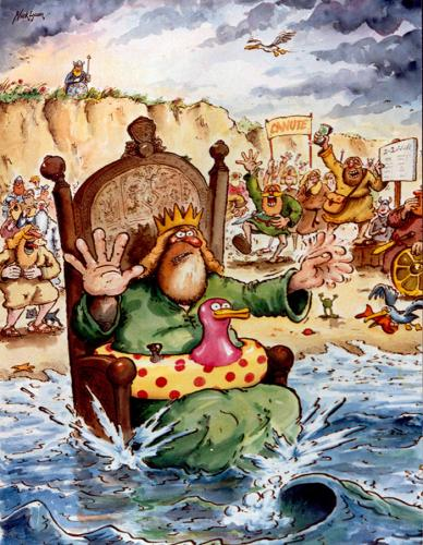 Image result for canute cartoon