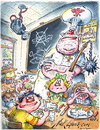 Cartoon: School food (small) by Nick Lyons tagged school,food,diet,cook,nicklyons,kids