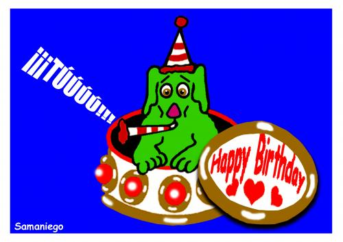 Cartoon: Happybirthday (medium) by samaniego tagged happybirthday