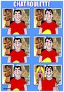 Cartoon: Chatroulette (small) by samaniego tagged chatroulette,internet,nuevas,tecnologias,chat,webcam