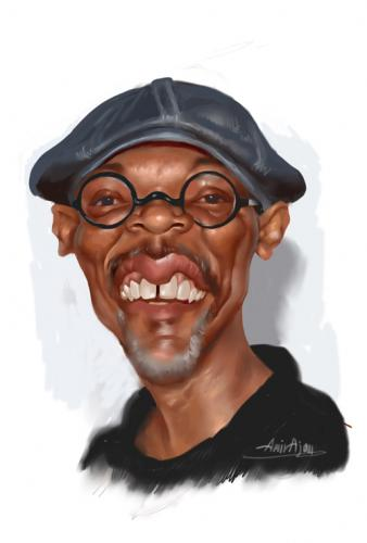 Cartoon: Samuel Jackson (medium) by Amir Taqi tagged samuel,jackson