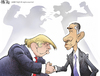 Cartoon: Obama -Trump (small) by Amir Taqi tagged obama