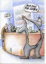Cartoon: burn out (small) by Petra Kaster tagged burn,out,stress,business,alkohol,bar,workoholic