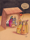 Cartoon: chinamarkt (small) by Petra Kaster tagged weihnachten,marktwirtschaft,chinesen,wirtschaft,christentum,christus