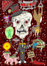 Cartoon: Hell Nite (small) by yusanmoon tagged halloween,hell,nite,yu,san,moon,cartoon,infinity,skeleton