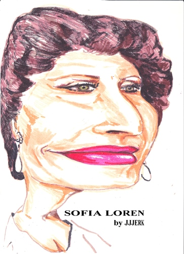 Cartoon: Sophia Loren (medium) by jjjerk tagged sophia,loren,film,star,movie,cartoon,caricature,italy,actress