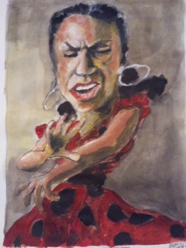 Cartoon: SPANISH DANCER (medium) by jjjerk tagged spanish,dancer,red,spain,dance,flamenco,spots,famous,people,music