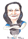 Cartoon: Basia (small) by jjjerk tagged basia,barbara,poland,ireland,chemist,palmerstown,dublin,cartoon,caricature,famous