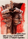 Cartoon: Carved heads on a pulpit (small) by jjjerk tagged dublin,ireland,irish,cartoon,caricture,red,book,books,pulpit,st,werburgh,church