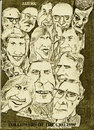 Cartoon: Cro followers (small) by jjjerk tagged cro players cartoon 1988 dublin ireland actors irish caricature