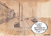 Cartoon: I cant find reverse (small) by jjjerk tagged wexford cartoon caricature shipping ireland boat crane lorry 1963