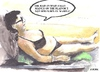 Cartoon: In the Spanish sun (small) by jjjerk tagged mary spain ben el madina ireland irish cartoon caricature