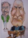 Cartoon: Jack and Tom (small) by jjjerk tagged jack,tom,harpur,radford,wexford,mechanics,institute,ireland,irish,artist,painter,violin