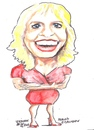 Cartoon: Meriam O Callaghan (small) by jjjerk tagged meriam rte red prime time announcer news irish ireland cartoon caricature blue blonde