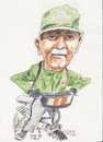 Cartoon: Paddy on his bicycle (small) by jjjerk tagged paddy bicycle cartoon caricature irish ireland green artist painter