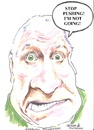 Cartoon: Stop pushing (small) by jjjerk tagged trapattoni giovanni soccar irish ireland cartoon caricature