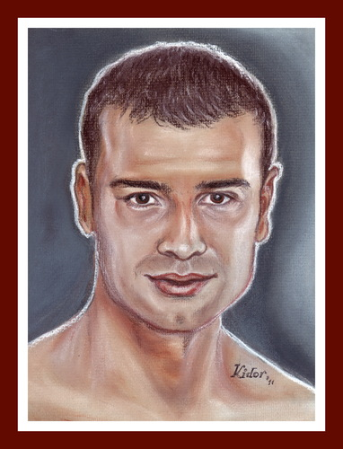 Cartoon: LUCIAN BUTE (medium) by Kidor tagged kidor,bute,lucian,champion,vasile,iralia