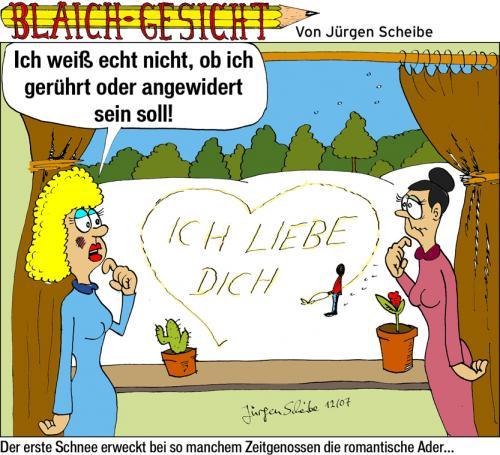 Cartoon: Valentinsgrüße (medium) By Scheibe Tagged  Valentinstag,gelber,schnee