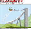 Cartoon: Franken-Recher 08 (small) by Scheibe tagged wintersport,skisprung,bungee,franken