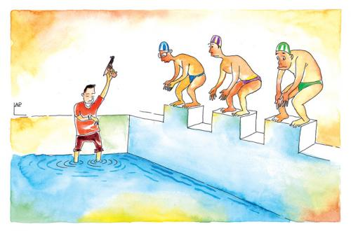 Olympic Games By Lap Sports Cartoon Toonpool