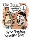 Cartoon: Böse Menschen (small) by moritz stetter tagged hitler