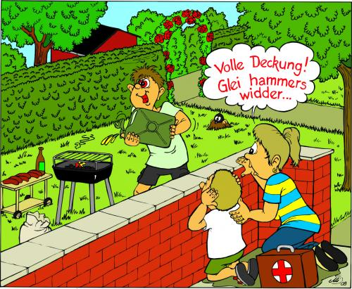 grillen ist m nnersache by mis09 media culture cartoon toonpool